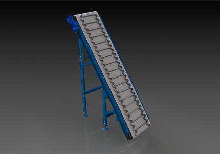 Наклонный ленточный конвейер фото