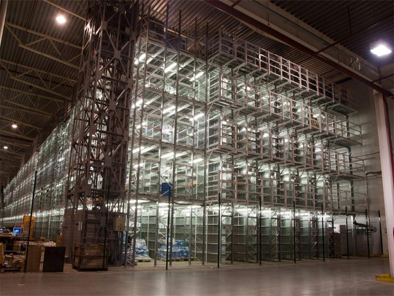 Многоуровневая стеллажная система для склада (Мезонин)