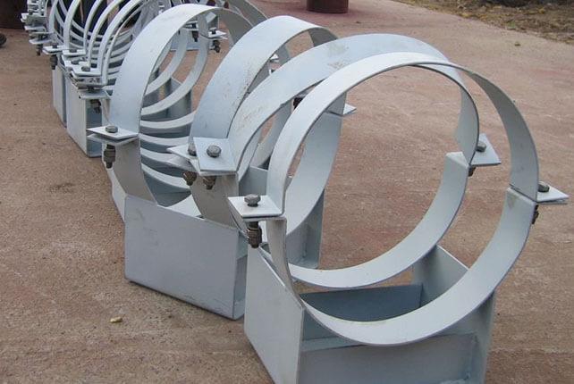 Хомутовые опоры трубопроводов
