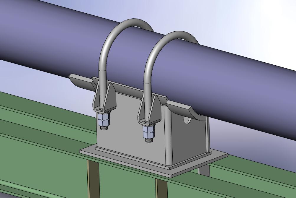 Неподвижные опоры для трубопроводов