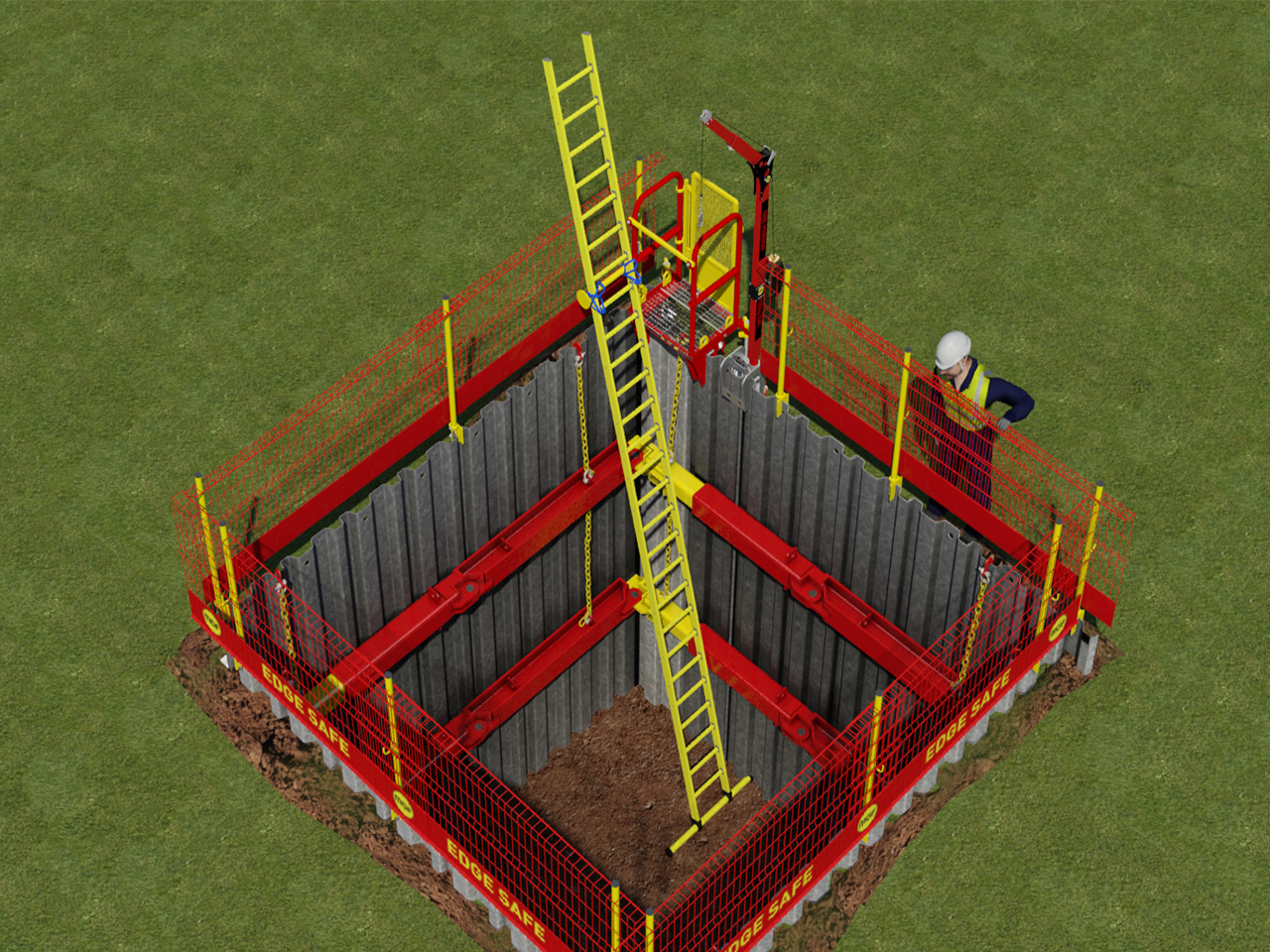 Лестница для котлована